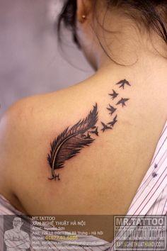 hình xăm lông vũ ( feather tattoo )
