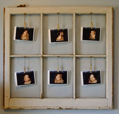 old window to hold old ultrasound pictures. Kind of a cute idea.
