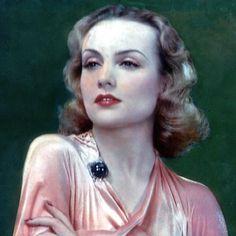 A beautiful color photo of Carole Lombard.