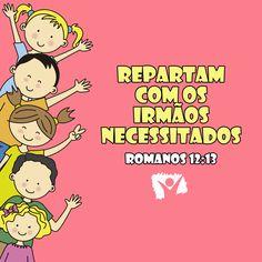 Versinho bíblico para decorar <3 Romanos 12:13