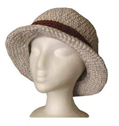 Free Crochet Bucket hat - with a straight brim Pattern. by Christina Williams