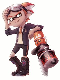 I recently discovered the joy of Blasters in Splatoon, so naturally I had to draw my Inkling with one. I love this game so much. Inkling with Blaster Draw Something, Character Description, Drawing Tools, Artist Art, Cool Artwork, Deviantart, Drawings, Stay Fresh, Anime