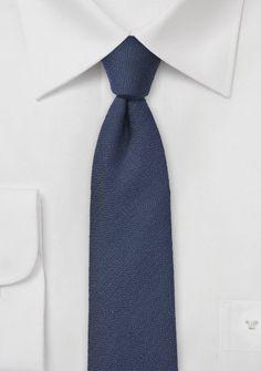 Businesskrawatte faux-uni dunkelblau