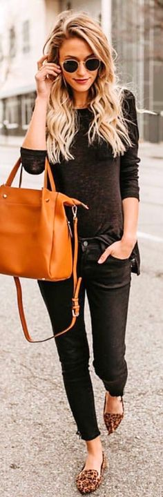 #winter #outfits  black 3/4 sleeve top