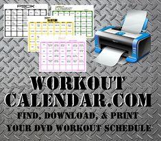 | Print A Workout Calendar