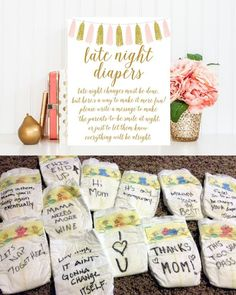 How funny! Nappy messages to your new baby. We love this alternative to a baby g