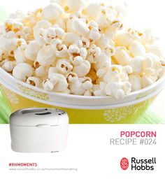 Making popcorn for a world cup soccer match could not be any easier. The Russell Hobbs bread maker doubles as a popcorn machine, talk about a game changing strategy? Microwave Popcorn, Soccer Match, Popcorn Recipes, Win A Trip, Hobbs, Bread, Game, Healthy, Food