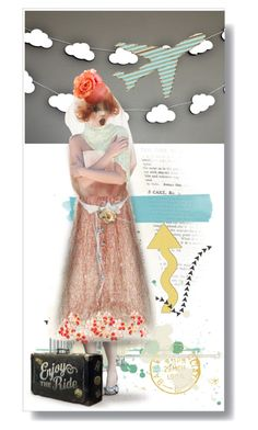 """""""Paper Airplanes"""" by lillibunneh ❤ liked on Polyvore featuring art"""