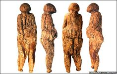 The engraved mammoth bones and Venus-style figures are not the first Stone Age artifacts found in the area, but they are the first ones found on the Zaraysk site.    I bet a man carved this, only a man would give that woman such an unflattering figure and manage to make it last up to 40,000 years later. Thanks guys, lol. ;-)