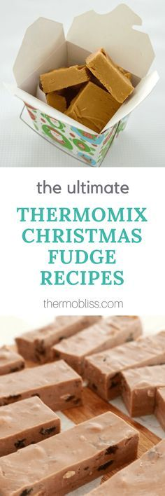 Our Thermomix Christmas fudge recipes make the perfect homemade gift for family, friends, teachers and neighbours! Christmas Fudge, Christmas Food Gifts, Xmas Food, Christmas Cooking, Christmas Desserts, Christmas Recipes, Oven Recipes, Fudge Recipes, Cooker Recipes