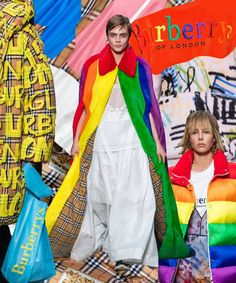 """Burberry Christopher Bailey Rainbow """"Strength and Creativity in Diversity"""" Last Show in support of LGBTQ+ community, London 17 February 2018"""