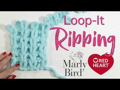 Loop it Garter Stitch. If you want a blanket fabric that will not roll on you, then you want to give garter stitch a try. Great New Loop-It yarn by Red Heart is made to make knitting fun and easy without any tools needed! Poncho Knitting Patterns, Arm Knitting, Crochet Patterns, Knitting Videos, Crochet Poncho, Irish Crochet, Crochet Ideas, Crochet Stitches, Finger Knitting Projects