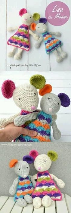 Let me introduce: Lisa the Mouse (new crochet amigurumi patt.- Let me introduce: Lisa the Mouse (new crochet amigurumi pattern) Lisa the Mouse – easy crochet pattern by Lilla Bjorn Crochet - Crochet Lovey, Crochet Mouse, Crochet Patterns Amigurumi, Diy Crochet, Crochet Crafts, Crochet Dolls, Crochet Projects, Mandala Crochet, Crochet Geek