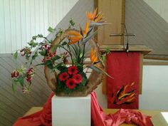 Liturgisch bloemschikken Pinksteren