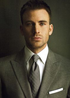 Every girl's crazy bout a sharp dressed man. Chris Evans...so fine.