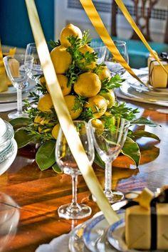 holiday decor, decorating with lemon