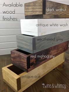 Wood Box Centerpiece Fall Decor Wood Planter Box by TwineandWhimsy