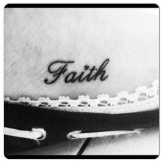 Faith tattoo | Faith tattoo on my foot | Small faith tattoo Love the ...