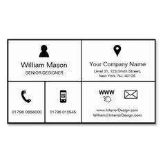 Black & White Metro Style Design - Business Card
