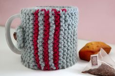 Un cache-mug en tricot