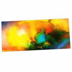 "No ""Good Vibrations"" Abstract Multicolor Desk Mat"