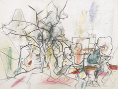 Arshile Gorky (Armenian/American, 1904-1948), Untitled, 1943-44. Pastel and graphite on paper, 20 ½ x 27 ½ in.