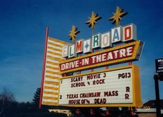 """""""See the Stars Under the Stars"""" here at this family favorite drive-in, which was established in 1950 and continues to be family owned and operated. Elm Road Drive-In is located at 1895 Elm Rd., Warren, OH 44483."""