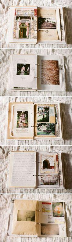 Travel journal For arty travel journals have in mini binder folder.: