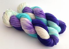 Hand Dyed Yarn Pandora Superwash Merino DK by aVividYarnStudio                                                                                                                                                                                 More