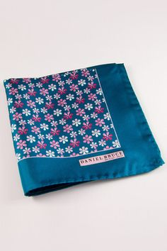 Daniel Bruce: Made in Italy Flower Power Pocket Square  Available at www.dibities.com