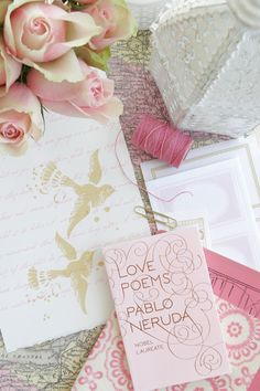 I love the soft pinks here---almost an antique feel