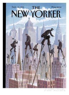 The New Yorker Cover - September 12, 1994 Regular Giclee Print par Eric Drooker sur AllPosters.fr: