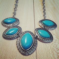 Beautiful heavy Turquoise oval shaped silver by RainingRustic, $16.50