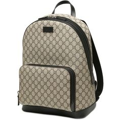 Gucci Men Gg Supreme Print Backpack ($1,050) ❤ liked on Polyvore featuring men's fashion, men's bags, men's backpacks, mens backpacks and gucci mens backpack