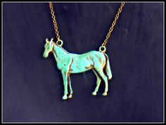 large horse necklace horse jewelry horse by alapopjewelry on Etsy, $24.00