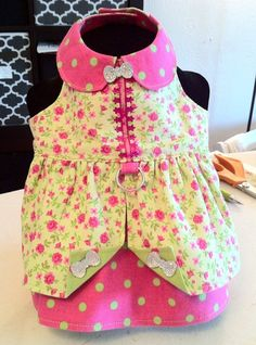 Melissa's creation made from Sofi & Friends Pattern 1726 Lily Mae Dog Dress