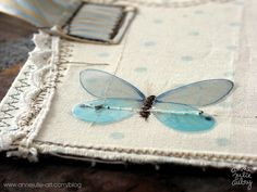 Fabric art journal...butterfly love!