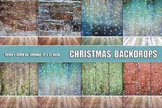 Christmas photogaphy background by Area on @creativemarket