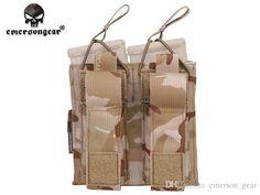 5.61&Pistol Double Open Top Magazine Pouch Emerson Tactical Army Military CS Combat Gear Multicam Fabric Pouches MC EM6362