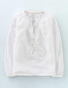 Boho-Bluse aus Gaze WA692 Tops mit Langarm bei Boden