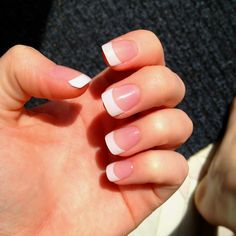 Acrylic nails....must have my nails!!!!! just pink and white thanks.