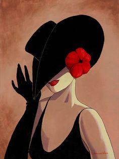 Ода шляе и той даме,на которой эта шляпа.Художница Lorraine Dell Wood.. Обсуждение на LiveInternet - Российский Сервис Онлайн-Дневников