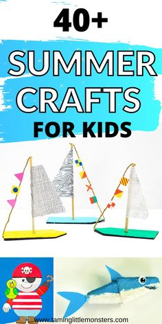 Check out this list of 40 summer crafts for kids. Fun and easy arts and carfts ideas for toddlers and preschoolers to create this summer. #summer #artsandcrafts #toddlers #preschoolers Science Activities, Activities For Kids, Summer Crafts For Kids, Kids Fun, Toddler Preschool, Simple Art, Summertime, Art Projects, Arts And Crafts
