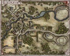 moat house village of homlett terrain - Google Search