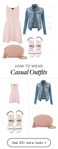 """super casual"" by liamendes22 on Polyvore featuring Topshop, LE3NO, MICHAEL Michael Kors and Natalie B"