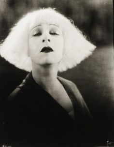 ✄ Fair Hair Flair ✄  Vintage Wedge Hair - Alla Nazimova in Salome,1923