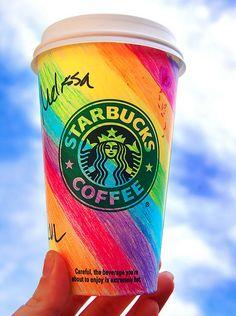 rainbow coffee