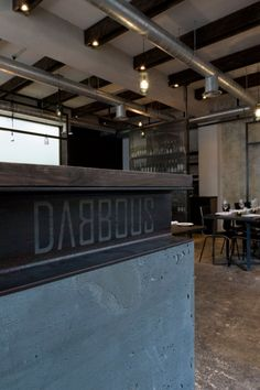 The most coveted place in London: Dabbous    Dabbous is a strikingly modern and stylish new restaurant/basement bar set over two floors located in the heart of  Fitzrovia, London. (39 Whitfield St, London)    Three days after its opening in February, London food critic Fay Maschler wrote a rave review about Dabbous and transformed it overnight from a new experimental, edgy restaurant to the most difficult place to get a reservation in London.