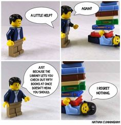 Library Humor, Library Books, Local Library, Book Club Books, Book Nerd, I Love Books, Books To Read, Lego Humor, Bookworm Problems