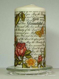 Heartfelt Creations | Bella Rose Vintage Background Candle